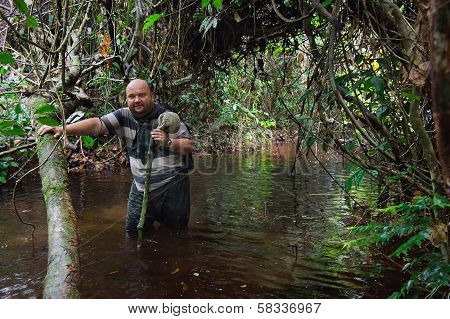 Man  In The Congo Jungle