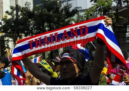 Sign Of Protesters Shut Down Bangkok