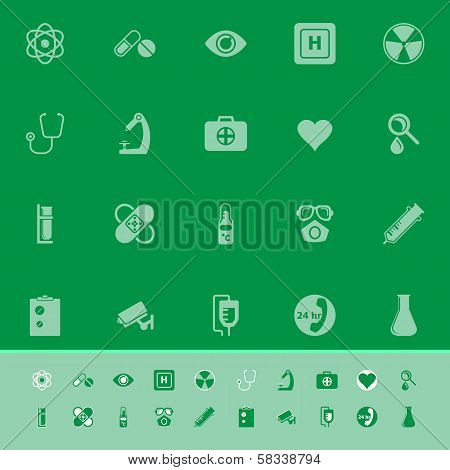 General Hospital Color Icons On Green Background