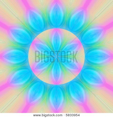 Turquoise Flower Mandala