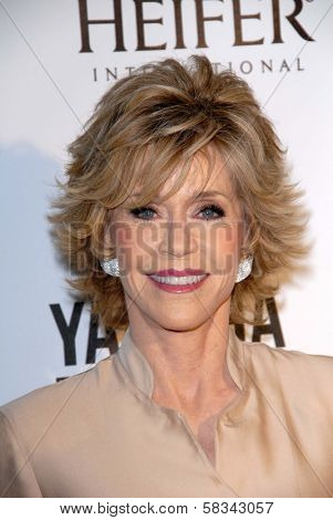 Jane Fonda at Heifer International's
