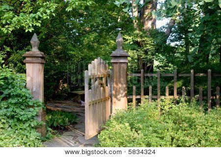 Inviting Garden Gate