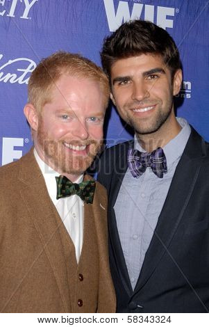 Jesse Tyler Ferguson, Justin Mikita at the Variety and Women In Film Pre-Emmy Event, Scarpetta, Beverly Hills, CA 09-21-12