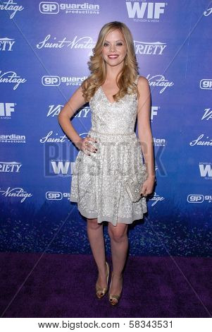 Dreama Walker at the Variety and Women In Film Pre-Emmy Event, Scarpetta, Beverly Hills, CA 09-21-12