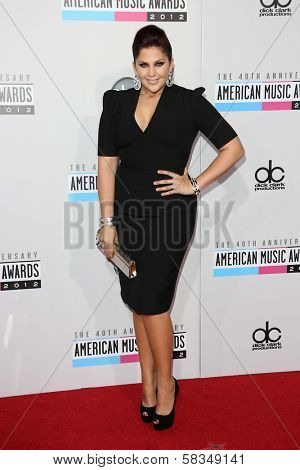 Hillary Scott at the 40th American Music Awards Arrivals, Nokia Theatre, Los Angeles, CA 11-18-12