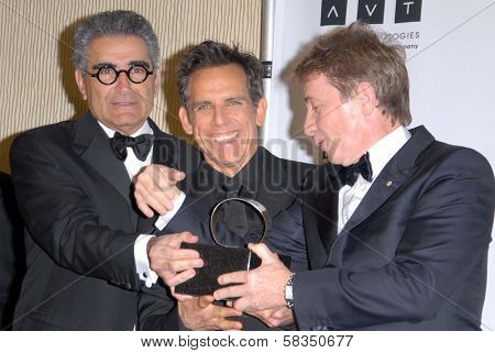 Eugene Levy, Ben Stiller, Martin Short at the 26th American Cinematheque Award Honoring Ben Stiller, Beverly Hilton Hotel, Beverly Hills, CA 11-15-12