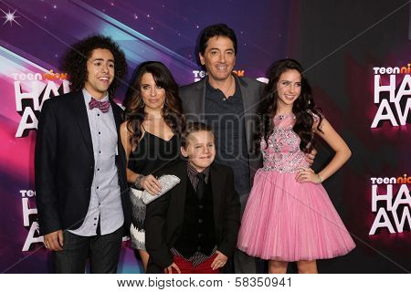 Ramy Youssef, Alanna Ubach, Jackson Brundage, Scott Baio, Ryan Newman at the 2012 TeenNick HALO Awards, Hollywood Palladium, Hollywood, CA 11-17-12