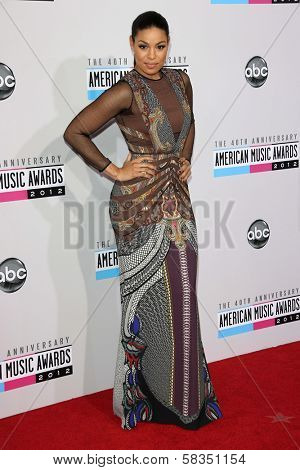 Jordin Sparks at the 40th American Music Awards Arrivals, Nokia Theatre, Los Angeles, CA 11-18-12