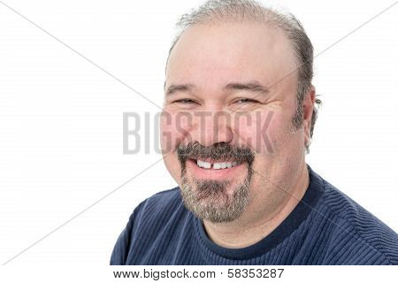 Middle-aged Man Enjoying A Good Laugh