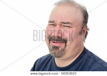 Close-up Portrait Of A Man Laughing In Disbelief