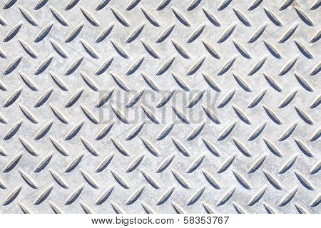 Texture of a metal diamond plate