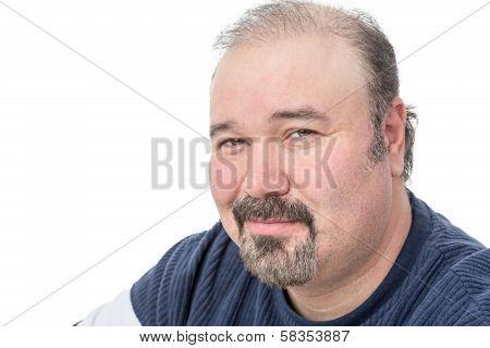 Close-up Portrait Of A Mature Man Smiling