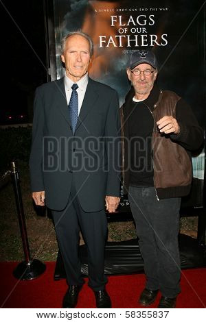Clint Eastwood and Steven Spielberg at the premiere of