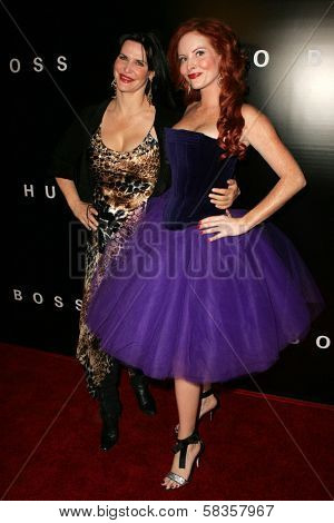 Jackie Watson and Phoebe Price at Hugo Boss's