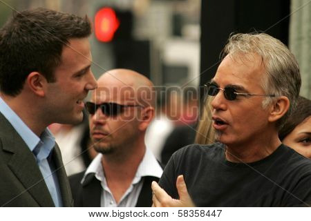 Ben Affleck and Billy Bob Thornton at the Ceremony honoring Bruce Willis with the 2,321st star on the Hollywood Walk of Fame. Hollywood Boulevard, Hollywood, CA. 10-16-06