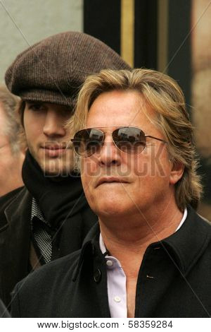 Ashton Kutcher and Don Johnson at the Ceremony honoring Bruce Willis with the 2,321st star on the Hollywood Walk of Fame. Hollywood Boulevard, Hollywood, CA. 10-16-06