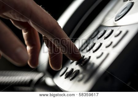 Man Making A Telepnone Call