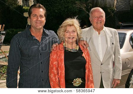 James Van Patten with Pat Van Patten and Dick Van Patten at 2006 Safari Brunch Fundraiser For The Wildlife Waystation. Playboy Mansion, Los Angeles, CA. 10-14-06