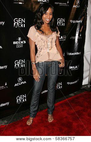 Shar Jackson at the Gen Art 9th Annual Fresh Faces in Fashion event, Barker Hanger, Santa Monica, CA 10-13-06