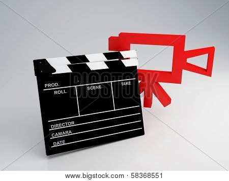 Movie Clapper Board. cinema concept