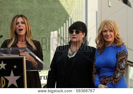 Rita Wilson, Ann Wilson, Nancy Wilson at the induction ceremony for Heart into the Hollywood Walk of Fame, Hollywood, CA 09-25-12