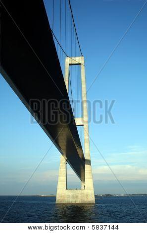 Under The Great Belt Suspension Bridge