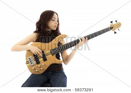 Woman With A Bass Guitar
