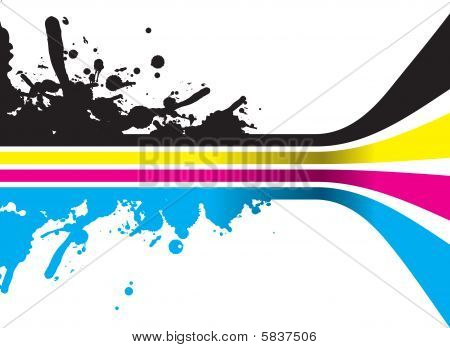 CMYK-Farbe-Streifen