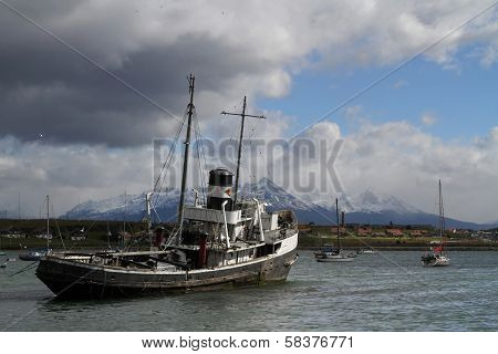 Tugboat In Ushuaia