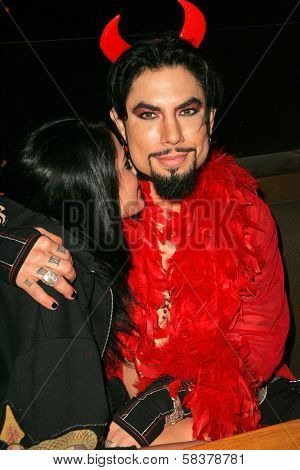 Dave Navarro and friend Cassidy at Dave Navarro's Halloween Lingerie and Costume Ball, The Highlands, Hollywood, CA 10-28-06