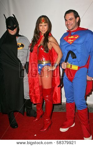Rhona Mitra and friends at Heidi Klum's 7th Annual Halloween Party, Privilege, Los Angeles, CA 10-31-06