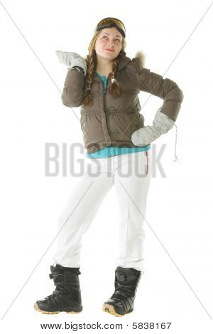 Snowboarder Woman