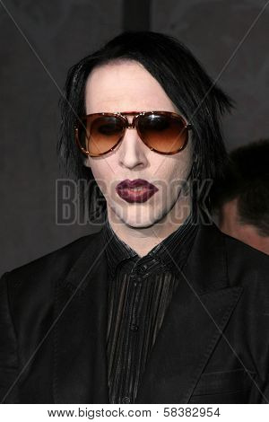 Marilyn Manson at the World Premiere of