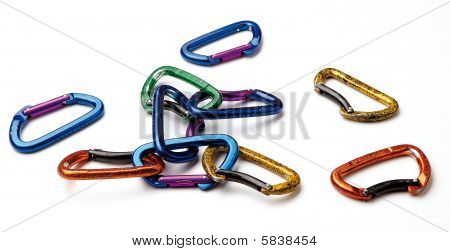 A Pile Of Snap Hooks