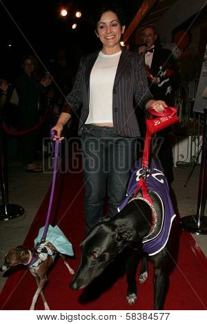 Jane Wiedlin and dogs Geordie and Peanut at the first annual Beverly Hills Mutt Club Fashion and Halloween Show, Beverly Hills Mutt Club, Beverly Hills, CA 10-22-06