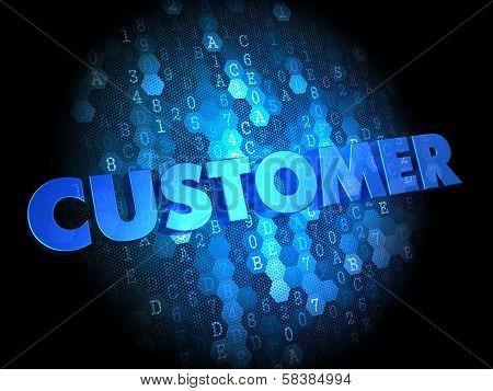 Customer on Digital Background.