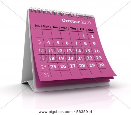 2010 Calendar. October