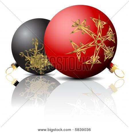 schwarzen und roten Zwiebeln Weihnachten