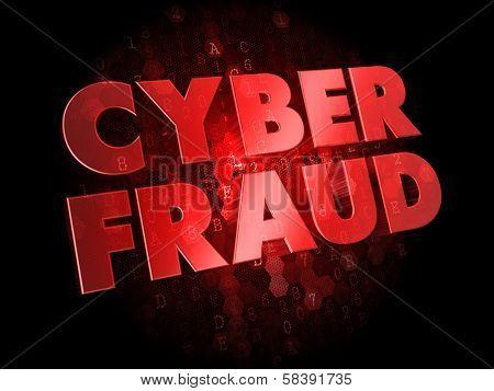 Cyber Fraud on Digital Background.