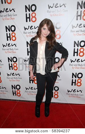 Amanda Leighton at the NOH8 Campaign 4th Anniversary Celebration, Avalon, Hollywood, 12-12-12