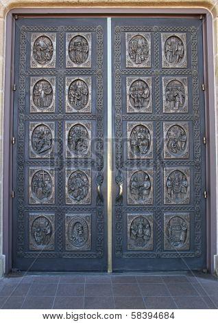 historic Bronze cathedral doors