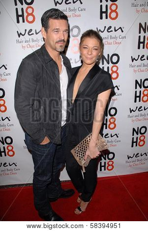 Eddie Cibrian, LeAnn Rimes at the NOH8 Campaign 4th Anniversary Celebration, Avalon, Hollywood, 12-12-12