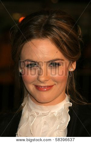 WESTWOOD, CA - NOVEMBER 05: Alicia Silverstone at a Special Presentation of