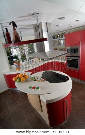 Red Modern Kitchen