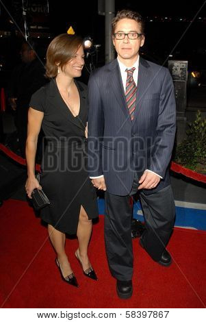 LOS ANGELES - NOVEMBER 7: Robert Downey Jr. and Susan Downey at The Hollywood Reporters Next Generation Reception presented by A&E at Sunset Beach on November 7, 2006 in West Hollywood, CA.