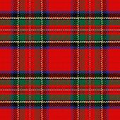 stock photo of kilt  - vector seamless pattern Scottish tartan Royal Stewart - JPG