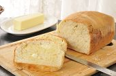 picture of fresh slice bread  - Fresh baked homemade bread sliced and buttered