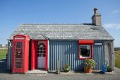 Small Post Office In A Remote Scottish Village