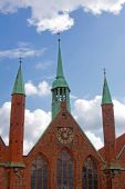 Chimes Of The Holy Spirit Hospital In Luebeck poster