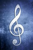 picture of musical note  - A series of Musical Notes on different colored textured backgrounds - JPG